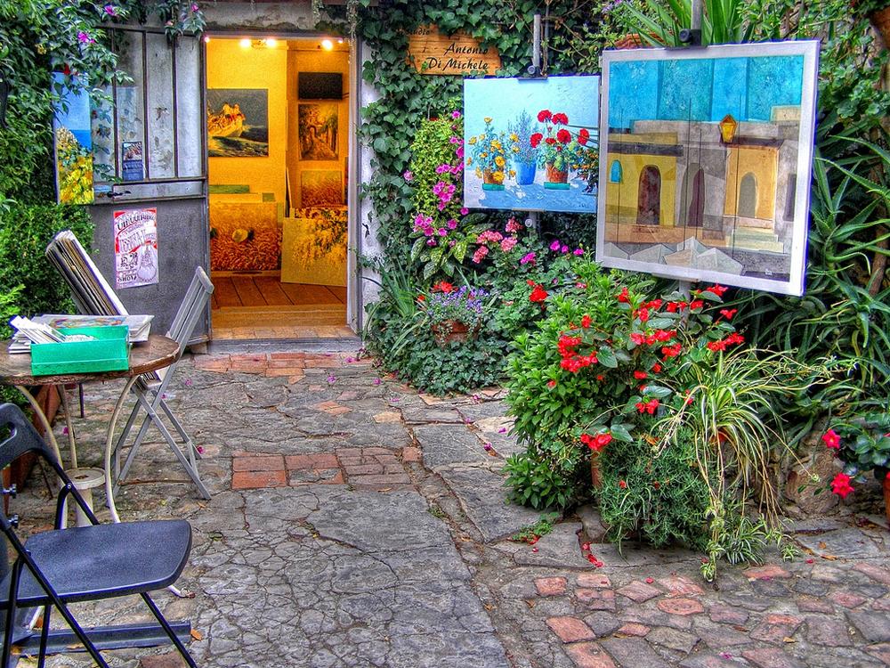 Un luogo incantato sopra sanremo bussana vecchia il paese degli artisti - Il giardino degli artisti ...