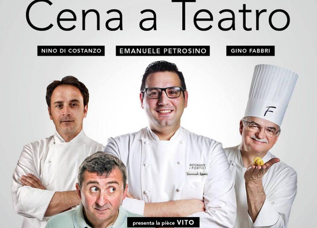 Cena a teatro: ai Portici Vito presenta due chef stellati e il re dei pasticceri