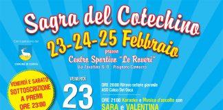 Grande festa a Pisignano e Cannuzzo di Cervia con la Sagra del cotechino