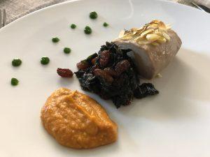 Il piatto omaggio a Cibò dello chef Vincenzo Vottero