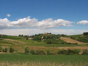la collina di villa Bagnolo