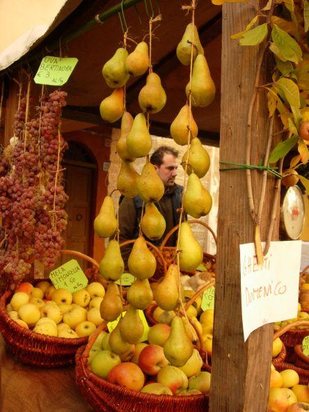 Festa dei Frutti Dimenticati -pere-scipione-mela-limoncella-uva-appesa