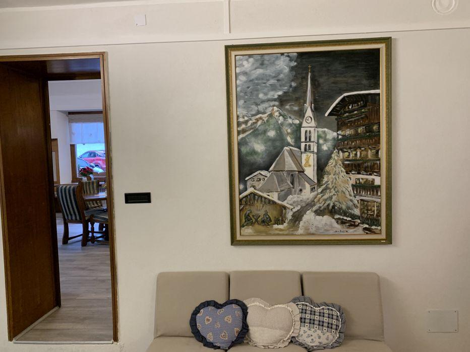 Albergo Alle Alpi La lobby con quadro