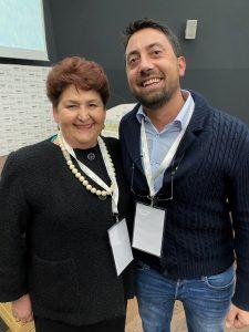Rocco Vallorani con il Ministro delle politice agricole alimentari e forestali Teresa Bellanova