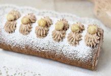 Rotolo pasta biscotto farcito con crema nocciola