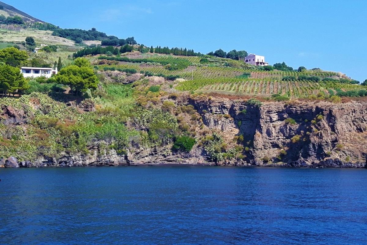 Vigne che guardano il mare a Salina. Credits: Ph. Andrea Di Bella