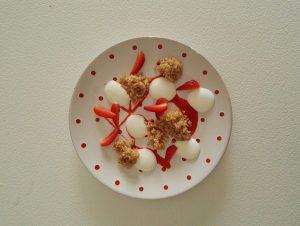 Quinoa allo zenzero con fragole e yogurt