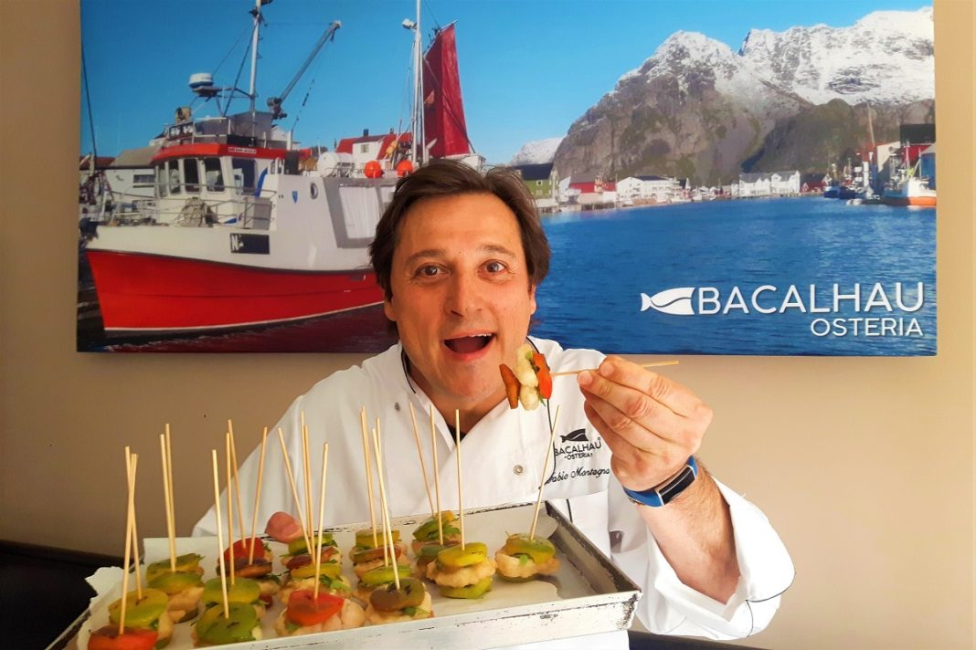 Fabio Montagna chef di Bacalhau Osteria. Credits: Ph. Andrea Di Bella
